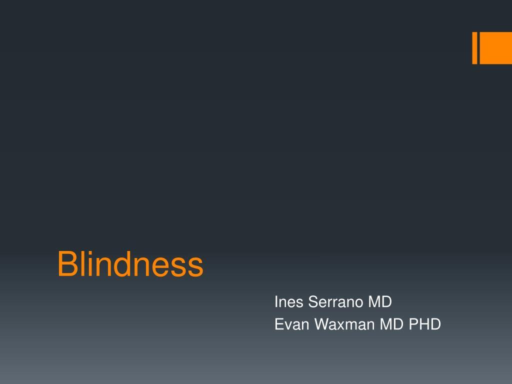 blindness l.