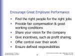 encourage great employee performance