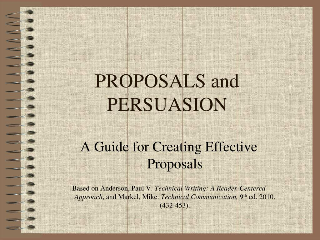 proposals and persuasion l.