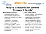 analysis 2 interpretation of theme recovery society