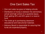 one cent sales tax