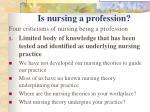 is nursing a profession5