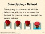 stereotyping defined