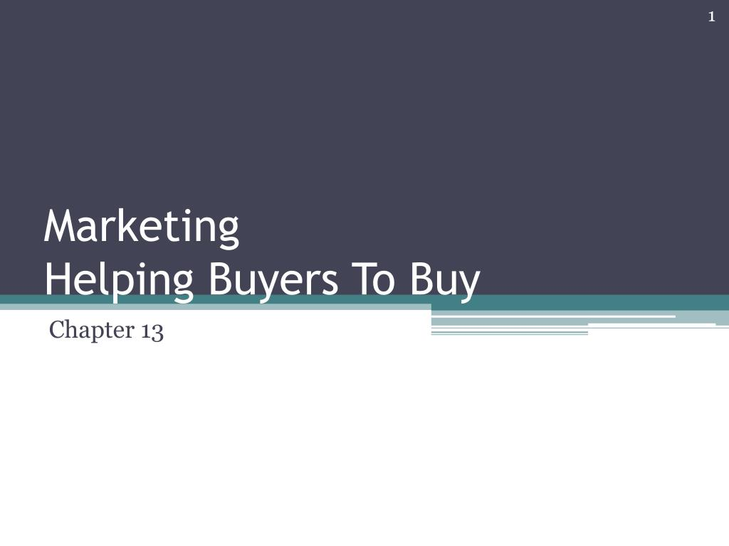 marketing helping buyers to buy l.