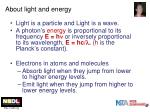 about light and energy