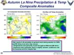 autumn la nina precipitation temp composite anomalies