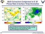 mjo convective component in e io precip rate surface temp anomalies