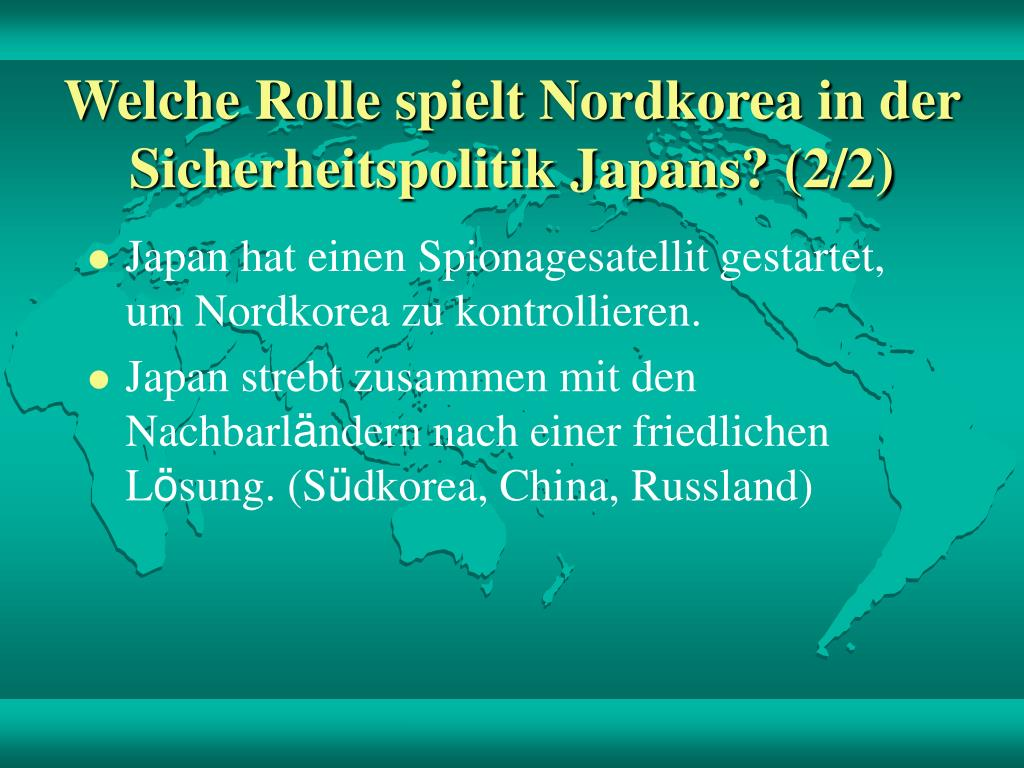 Welche Rolle spielt Nordkorea in der Sicherheitspolitik Japans? (2/2)