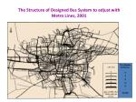 the structure of designed bus system to adjust with metro lines 2001