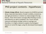 phd project contents hypotheses