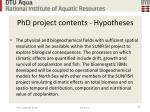 phd project contents hypotheses24