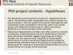 phd project contents hypotheses25
