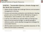 sunfish sustainable fisheries climate change and the north sea ecosystem