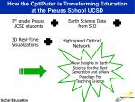 how the optiputer is transforming education at the preuss school ucsd