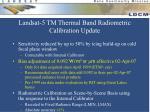 landsat 5 tm thermal band radiometric calibration update