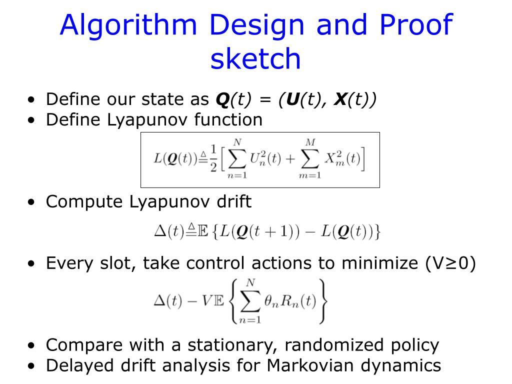 Algorithm Design and Proof sketch