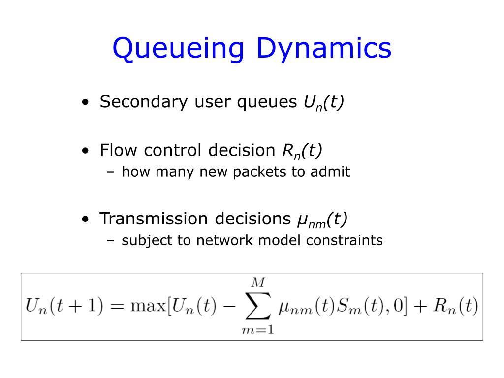 Queueing Dynamics