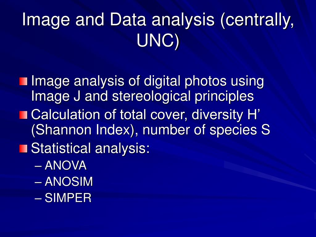 Image and Data analysis (centrally, UNC)