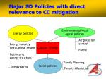 major sd policies with direct relevance to cc mitigation