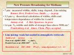 new pressure broadening for methane