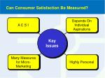 can consumer satisfaction be measured