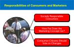 responsibilities of consumers and marketers