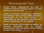 funciones del tutor