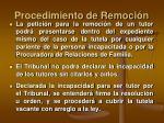 procedimiento de remoci n