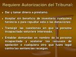 requiere autorizaci n del tribunal24