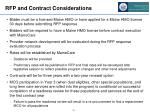 rfp and contract considerations