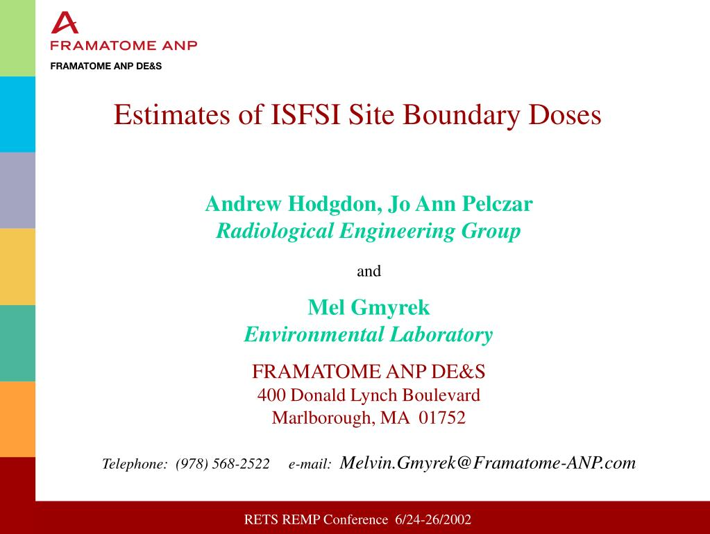 estimates of isfsi site boundary doses l.