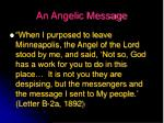 an angelic message