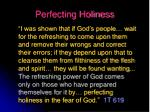 perfecting holiness