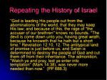 repeating the history of israel19