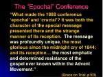 the epochal conference