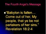 the fourth angel s message
