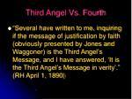 third angel vs fourth