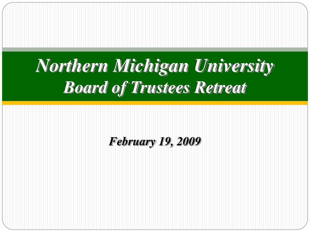 northern michigan university board of trustees retreat l.