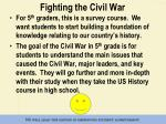 fighting the civil war