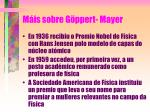 m is sobre g ppert mayer