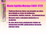 maria sybilla merian 1647 171731