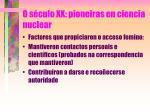 o s culo xx pioneiras en ciencia nuclear