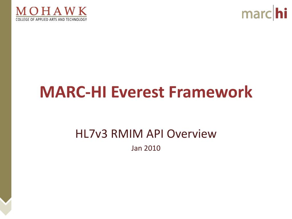 marc hi everest framework l.