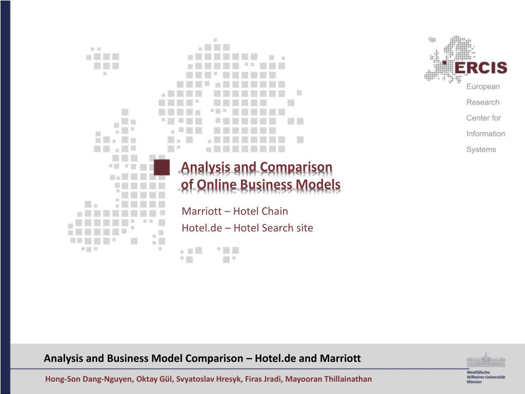 analysis and comparison of online business models l.