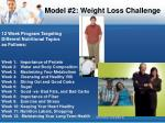 model 2 weight loss challenge