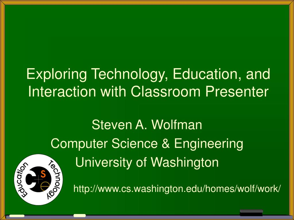 exploring technology education and interaction with classroom presenter l.
