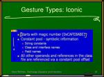 gesture types iconic