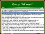 group winners