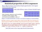 statistical properties of dna sequences