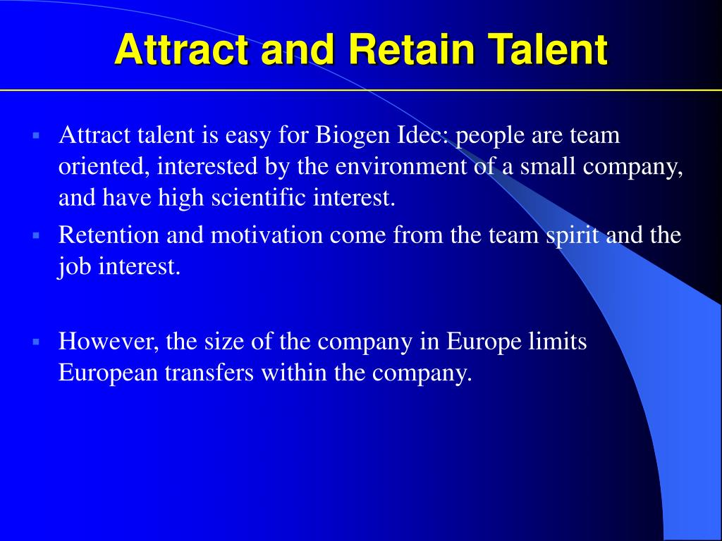 Attract and Retain Talent